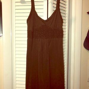 Moda International chocolate brown dress